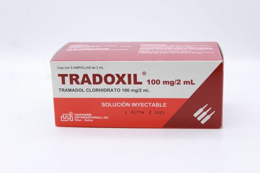 Imagen de TRADOXIL 100MG/2ML INY x 5 AMP FP (CONTROLADO)