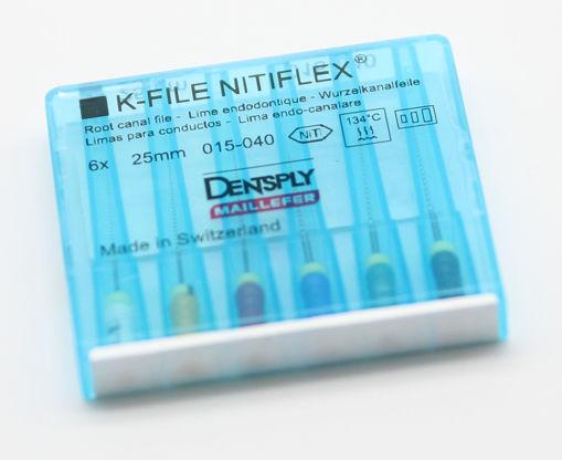 Imagen de K-FILE NITIFLEX 15-40 25MM. 6 Unds